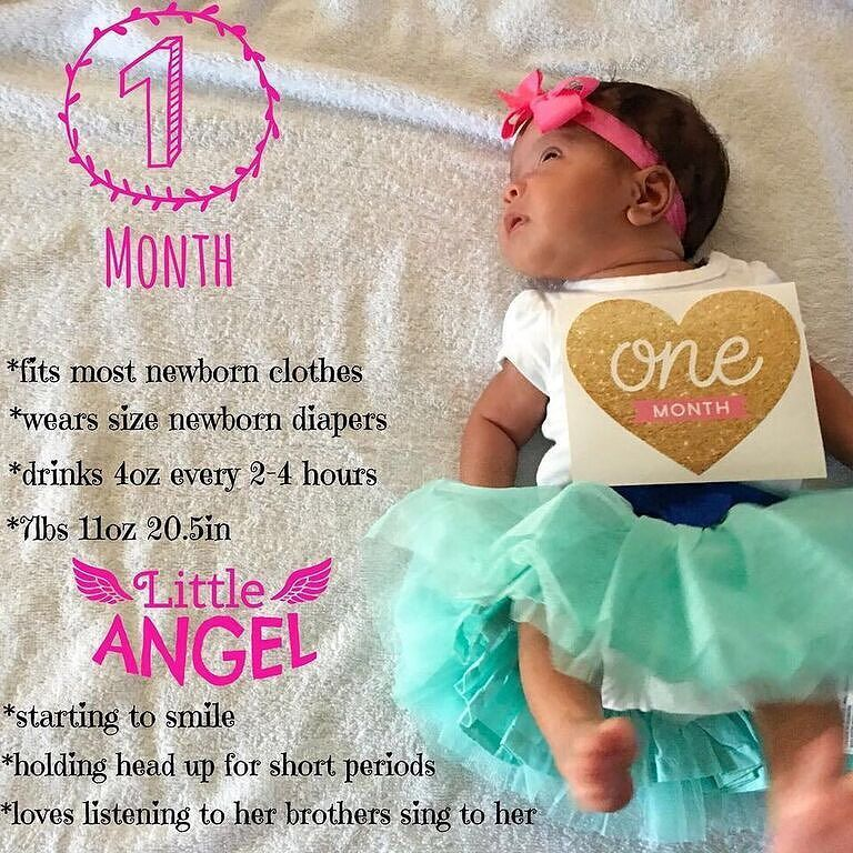 Happy 1 Month We Re Celebrating Our Miracle Girls 1 Month Birthday She S Getting So Big Already And Her Featur Baby Month By Month Babies Stories Baby Quotes