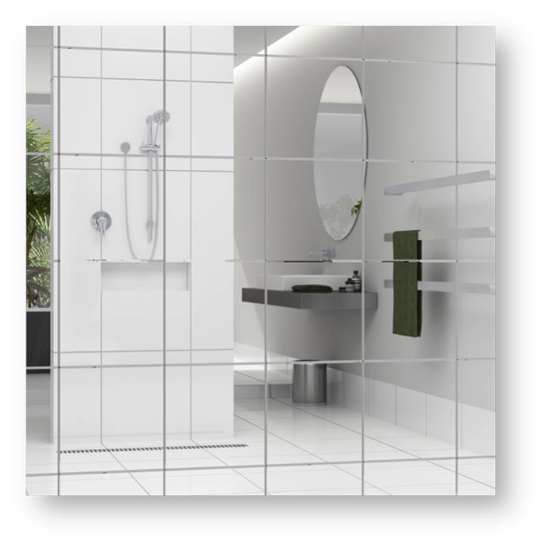 Highgrove 300 x 300 x 5mm bevel edge mirror tile bunnings 39 for four
