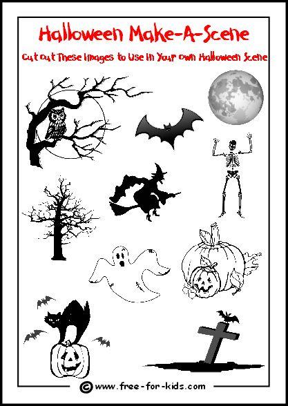 Create A Halloween Scene | Halloween Activities & Games ...