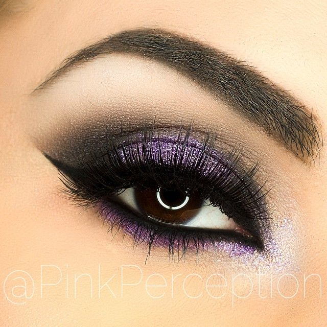 Today's #eotd used the @anastasiabeverlyhills @amrezy palette for this look, purple glitter is tiny tart from @eyekandycosmetics , liner is @motivescosmetics LBD liner, lashes are Bambi from @lovelovelashes , those lashes are absolutely gorgeous!!! My new favorites!! brows are @anastasiabeverlyhills #dipbrow in dark brown, brushes used are from @rccosmetics and @hairandmakeupaddiction