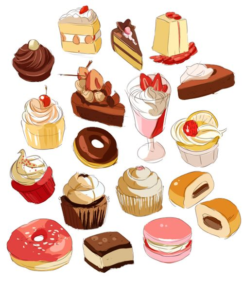 Dessert references drawing guides pinterest food for Cuisine reference