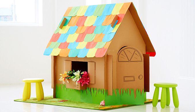Casas de cart n para ni os - Casas para ninos de carton ...