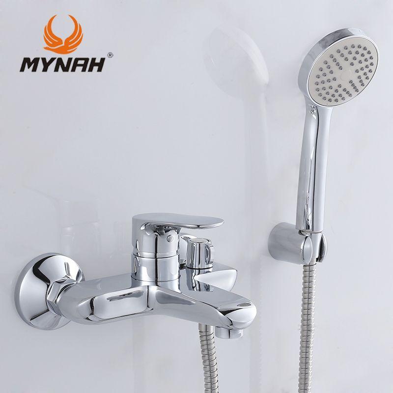 MYNAH Russia free shipping Bathroom faucet shower faucets bath mixer ...
