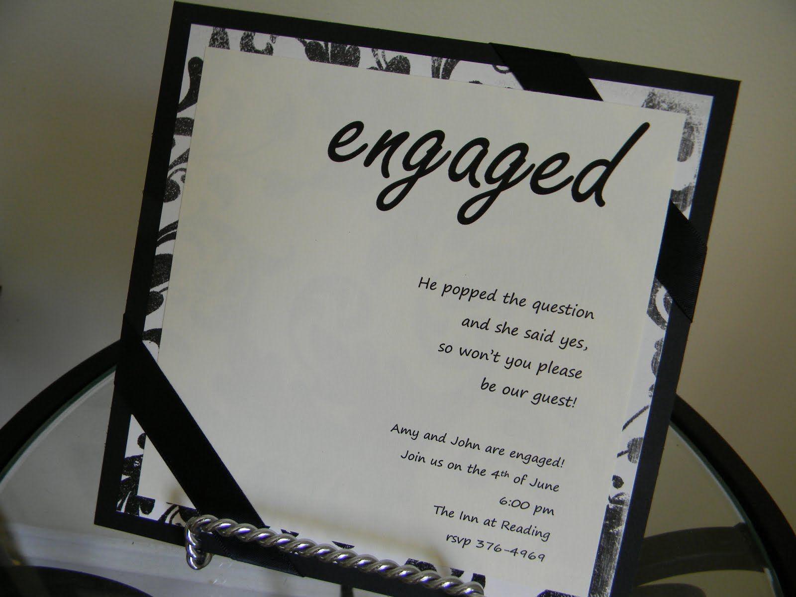 Engagement Party Invitations | Davis Designs: Engagement Party ...
