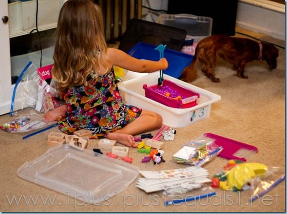 What's in the Preschool Box? {Week 1} - 1+1+1=1