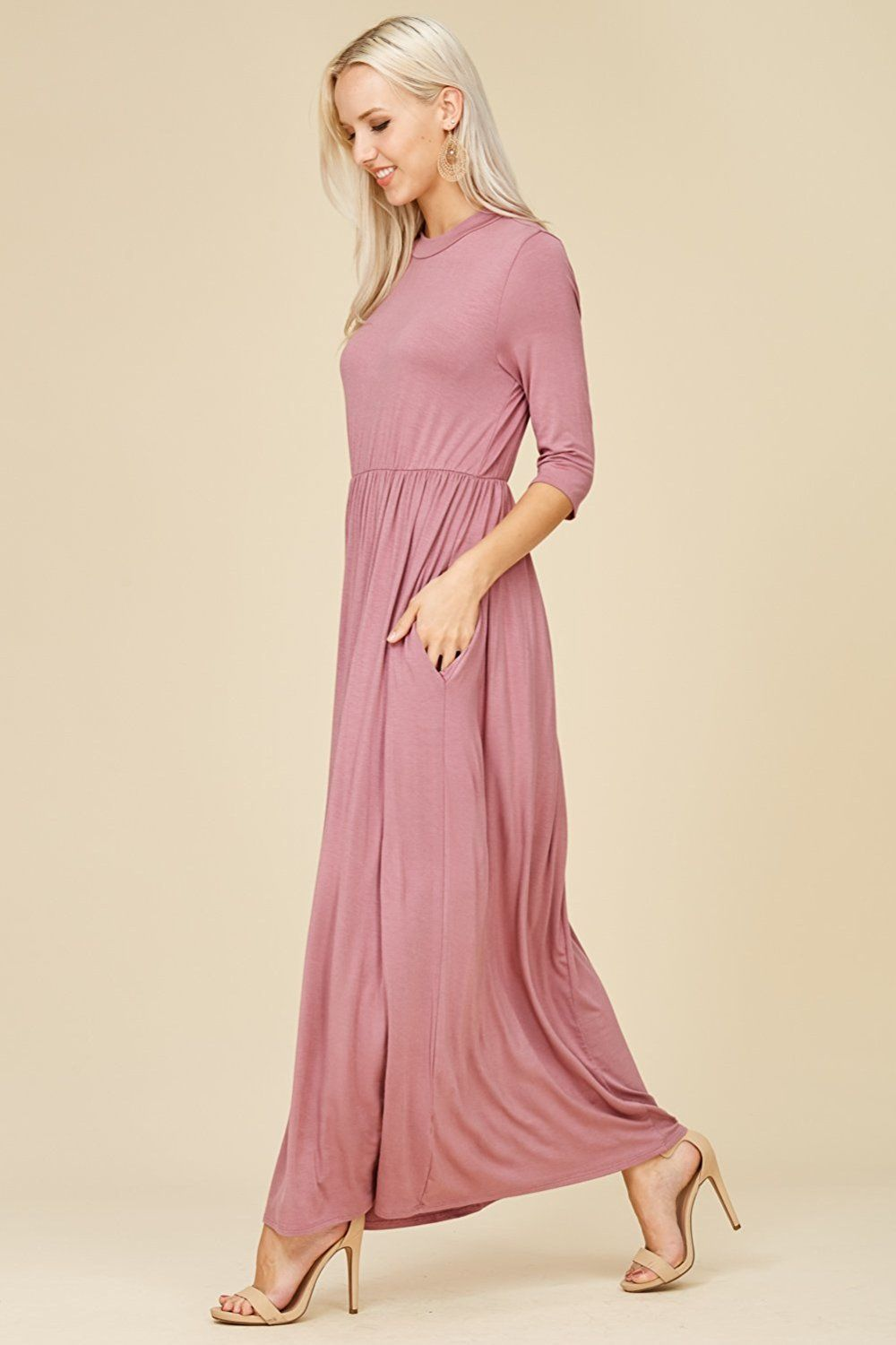 Annabelle Women S 3 4 Sleeve Long Maxi Dresses With Side Pockets Check This Awesome Product By Going To The Link At The Long Maxi Dress Dresses Maxi Dress [ 1500 x 1000 Pixel ]