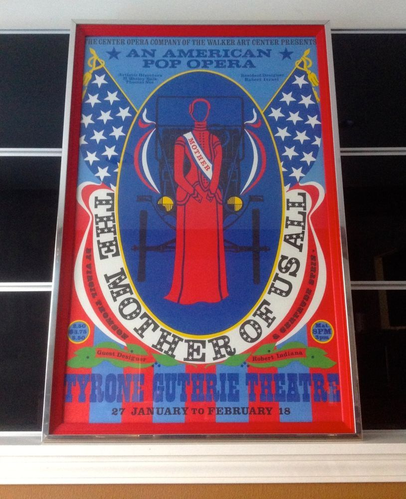 "1967 Original ""The Mother of Us All"" Broadway Musical Lithograph Robert Indiana  #PopArt"