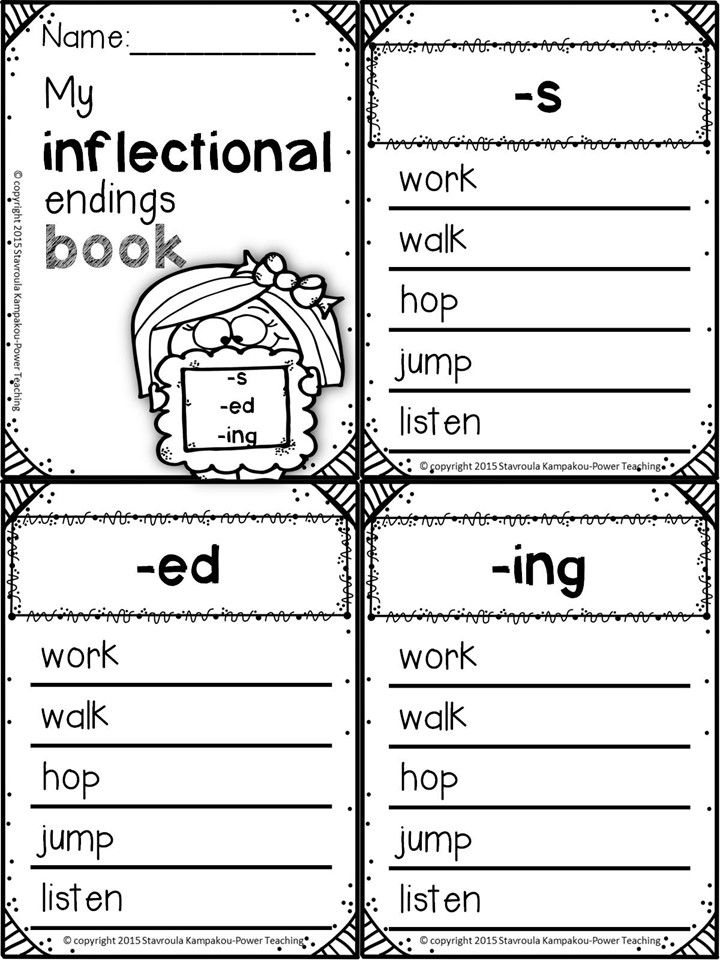 Inflectional Endings   Root words, Worksheets and Spin
