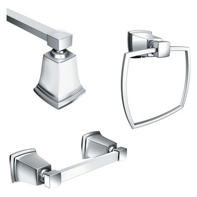 Moen Y3233CH Boardwalk 3 Piece Decorative Bath Hardware Set