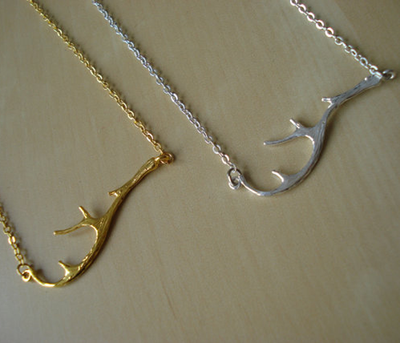 {Dainty Antler Necklace} in gold or silver by Moonlight for Violet