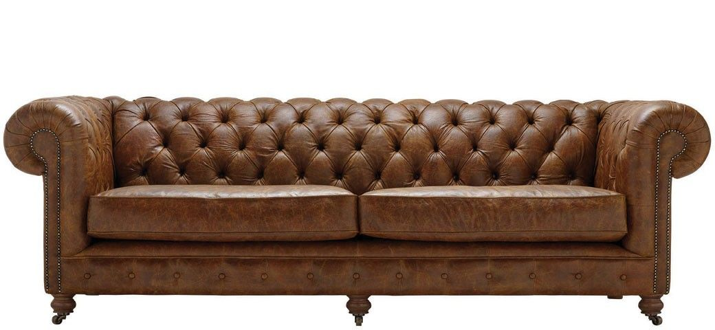 Vintage Chesterfield 4 Seater Leather Sofa Vintage Leather Sofa Leather Sofa Sofa