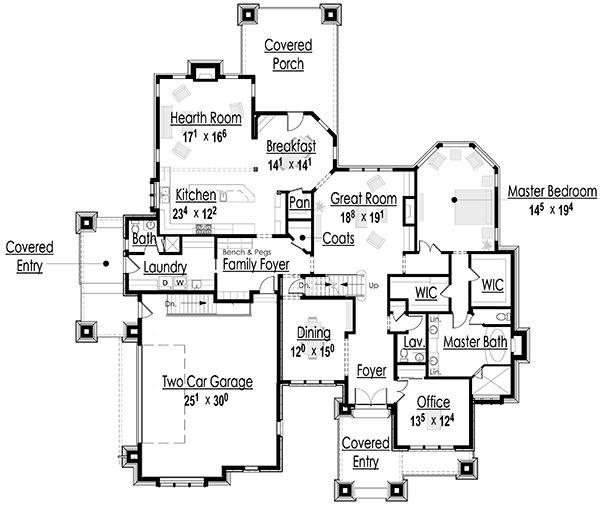 Luxury Custom Home Floor Plans: The Luxury Mountain Cottage House Plan