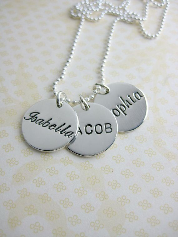3+charm+personalized+name+necklace+5/8+inch+by+MetalPressions,+$121.10