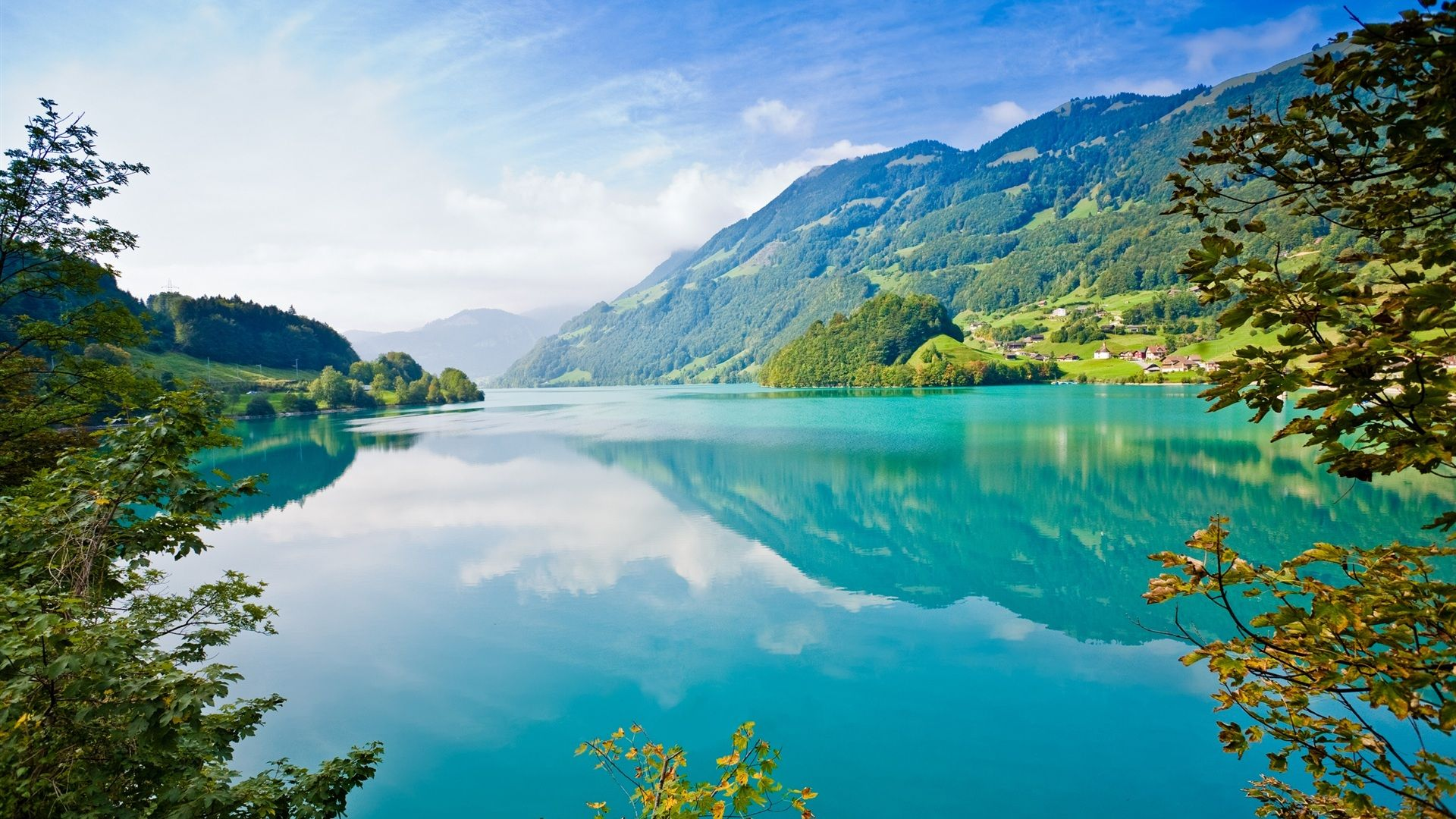 Beautiful blue water green nature pictures 1920x1080