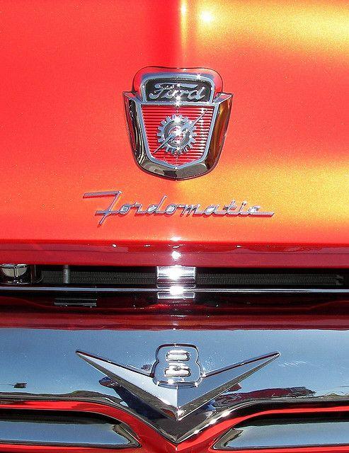 Orange 1956 Ford F150