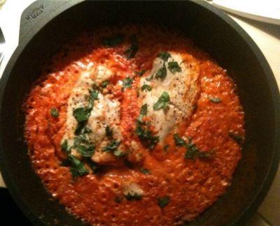 (Inspirasjon hentet fra www.trineblogg.blogspot.com)Inneholder: 2 porsjoner2 kyllingfileter (ca 1...