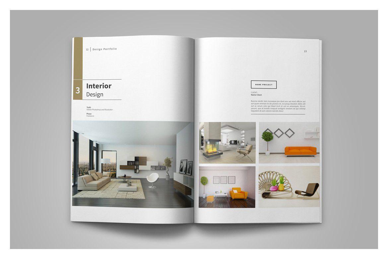 Graphic Design Portfolio Template Interior Design Portfolio Layout Portfolio Design Layout Portfolio Template Design