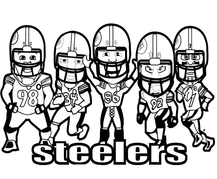 Steelers Nfl Football Coloring Pages Football
