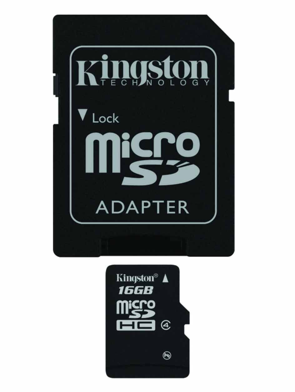 Class 4 Professional Kingston 16GB MicroSDHC Card for Samsung 2 Smartphone with custom formatting and Standard SD Adapter. .