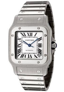 Cartier W20098D6 Men's Santos de Cartier Stainless Steel Watch http://www.originalwatchstore.com/brand/cartier/