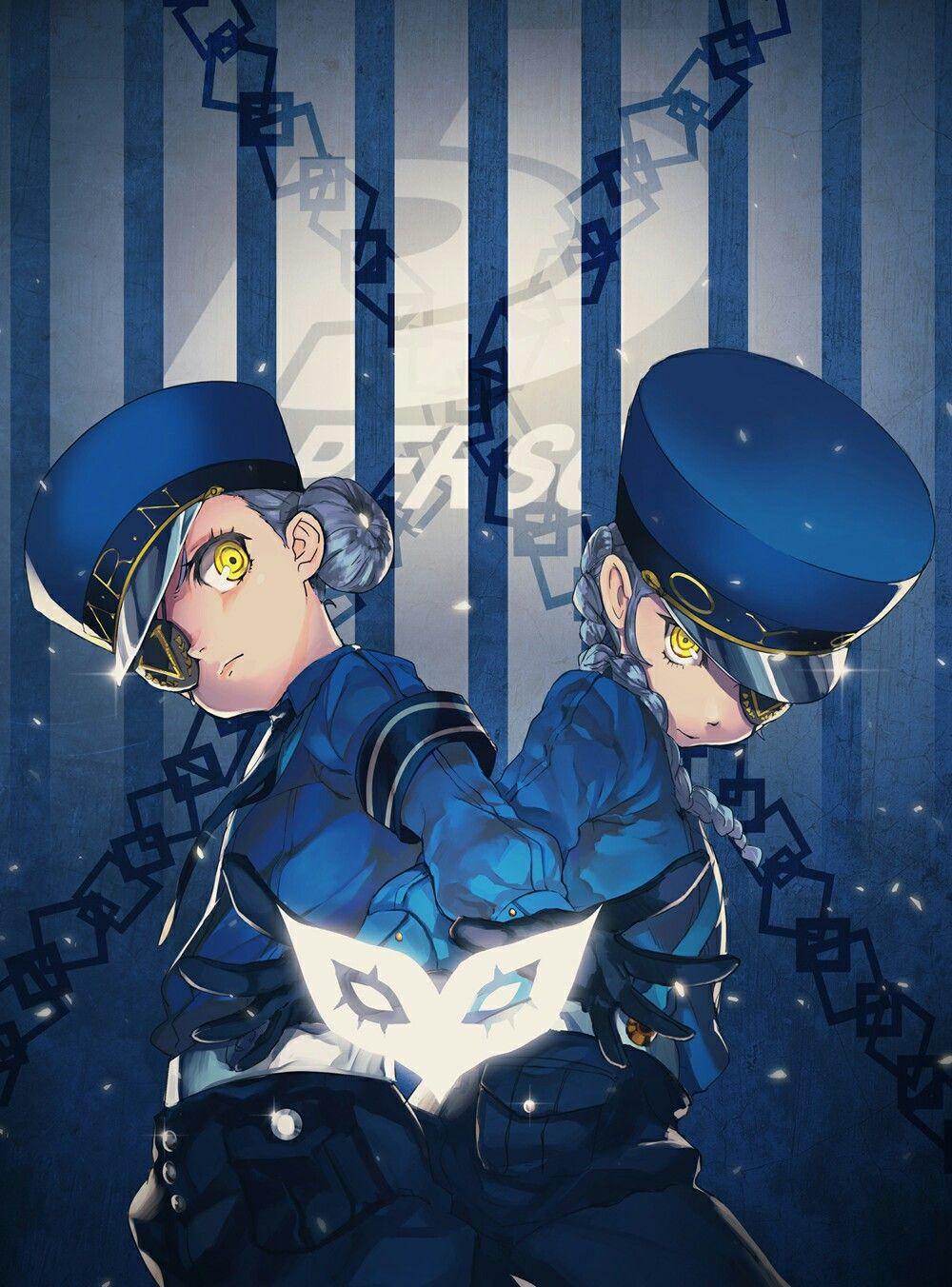 Persona 5's Caroline and Junstine ^^b Persona 5, Persona
