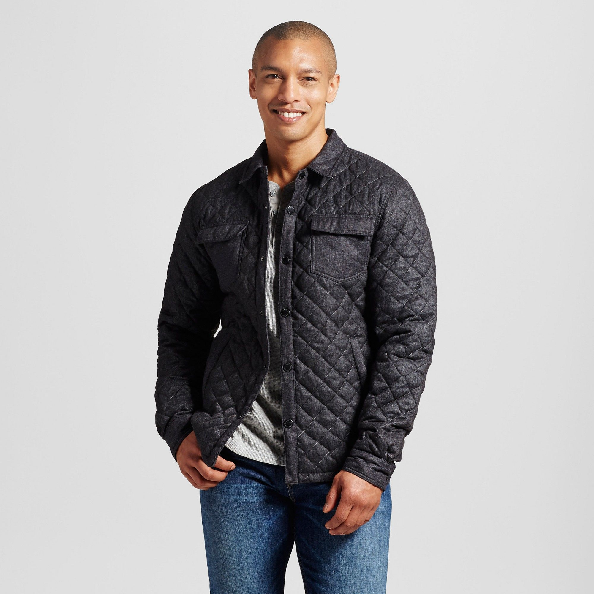 jacket gallery normal shirt men black clothing quilted courtland for penfield product in quilt lyst blue navy