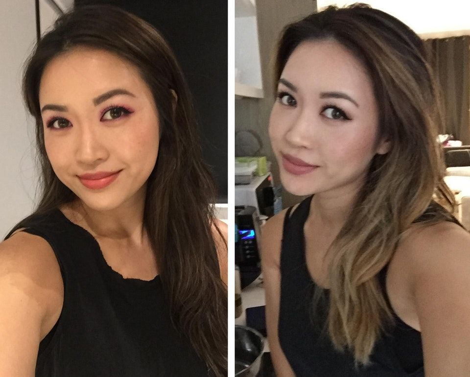 Asian Balayage Had A Lifetime Of Dark Black Hair And Wanted Some Dimension With Low Maintenance Because Ha Asian Balayage Hair Color Asian Balayage Asian Hair