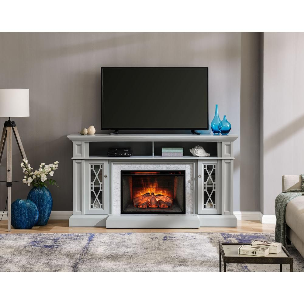 Home Decorators Collection Parkbridge 68 In Freestanding Infrared Electric Fireplace Tv Stan Fireplace Tv Stand Electric Fireplace Tv Stand Electric Fireplace