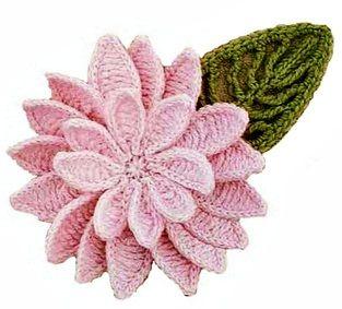 flores em croche com receitas