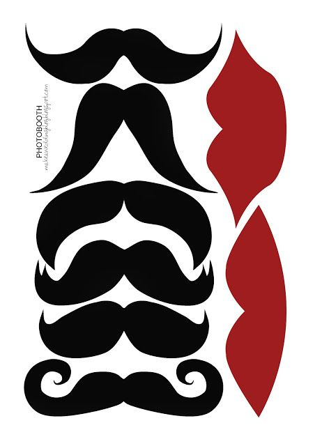 Free Lip and Mustache Printables: Photo Booth Props | Photo booth ...