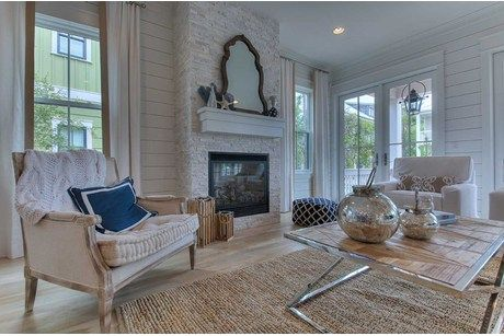 by David Weekley Homes at Watercolor love the walls and fireplace
