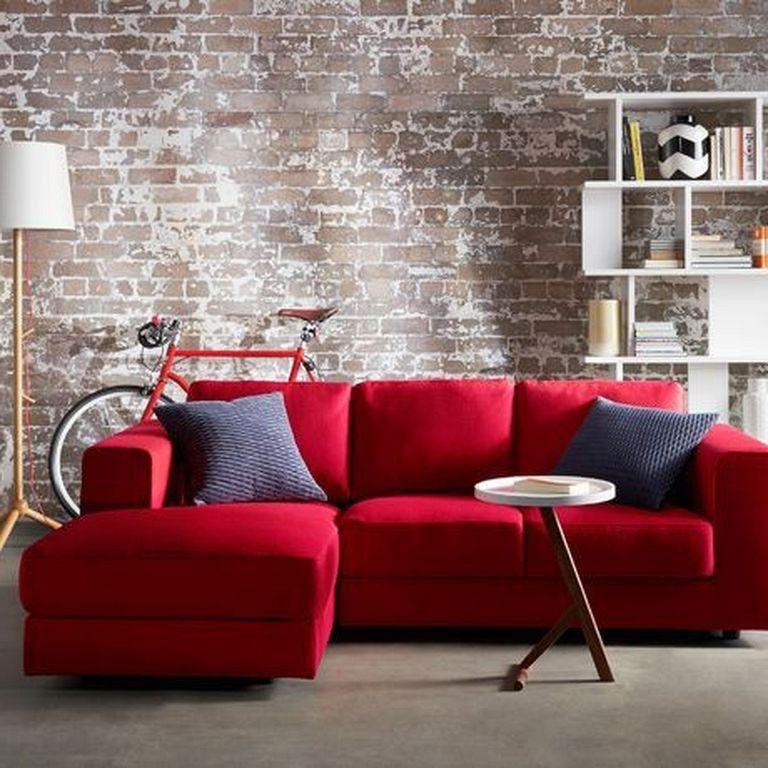 20 cozy modern red sofa design ideas for living room