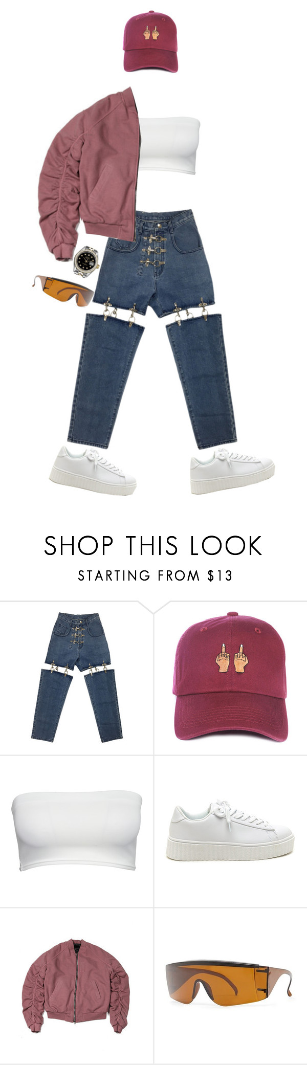 """""""Untitled #1709"""" by artiola-fejza ❤ liked on Polyvore featuring Forever 21 and Rolex"""