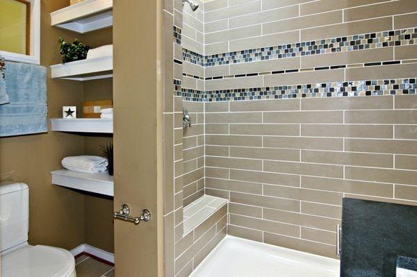 bathroom with mosaic interesting design