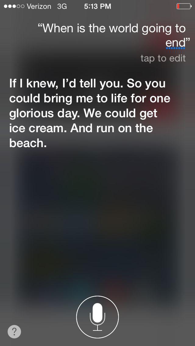 Lol I love Siri XD