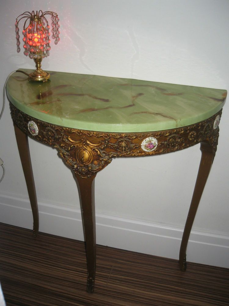 vintage ornate gold wall 3 leg console table shelf french marble rh pinterest com