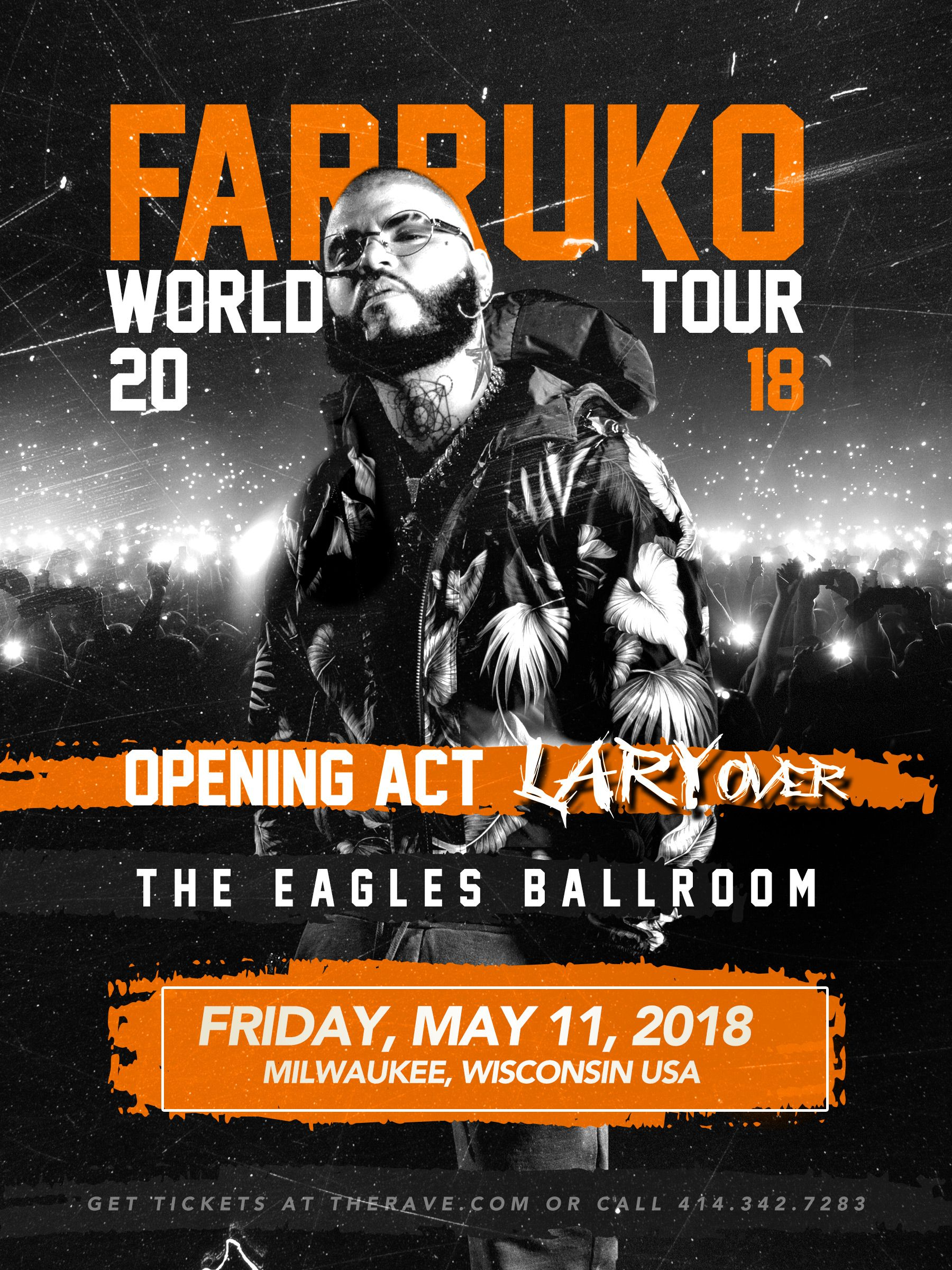 farruko with lary over friday may 11 2018 at 8pm the rave eagles rh pinterest com