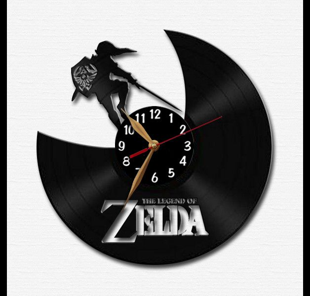 wanduhr zelda vinyl schallplatte uhr uhren pinterest vinyl schallplatten schallplatte. Black Bedroom Furniture Sets. Home Design Ideas