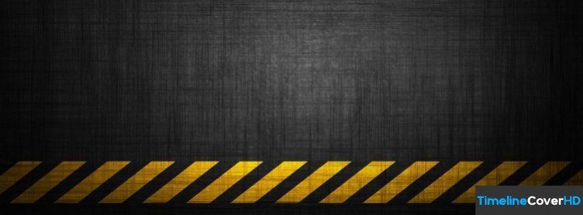 Caution Grunge Stripe Pattern Facebook Cover Timeline Banner For Fb Facebook Cover