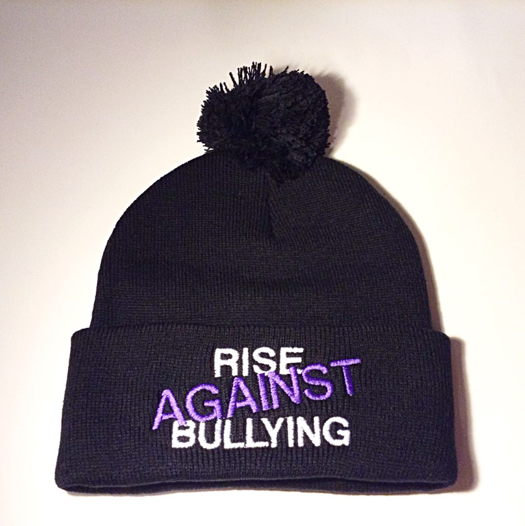 New Rise Against Bullying Pom Pom toques!  f9ecbfd9d89