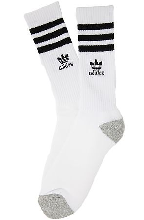The Originals Roller Crew Socks in White   Black  052fcc210