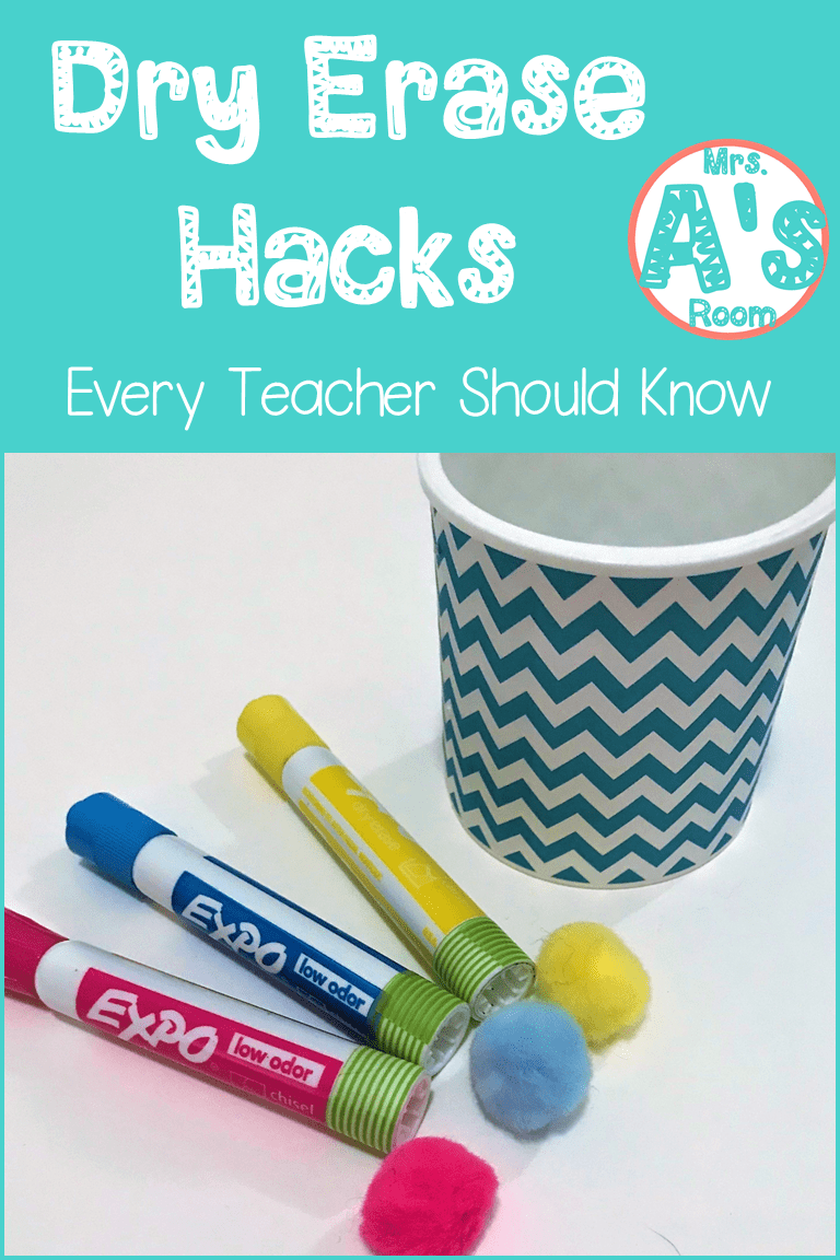 Four Dry Erase Hacks That Are Easy To Do And Won T Cost You A Fortune Dry Erase Hacks Teaching Life