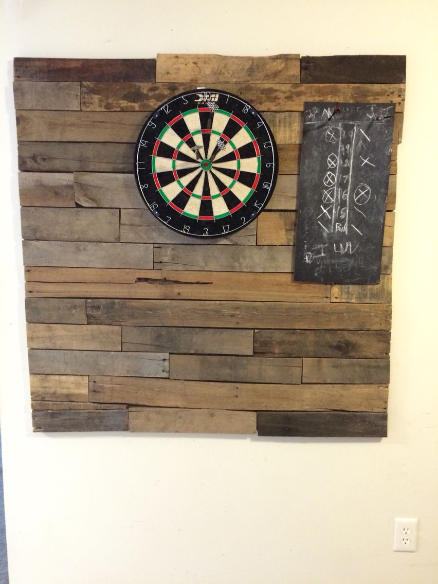 Pallet Wood Dartboard Backboard From The Strong Wood