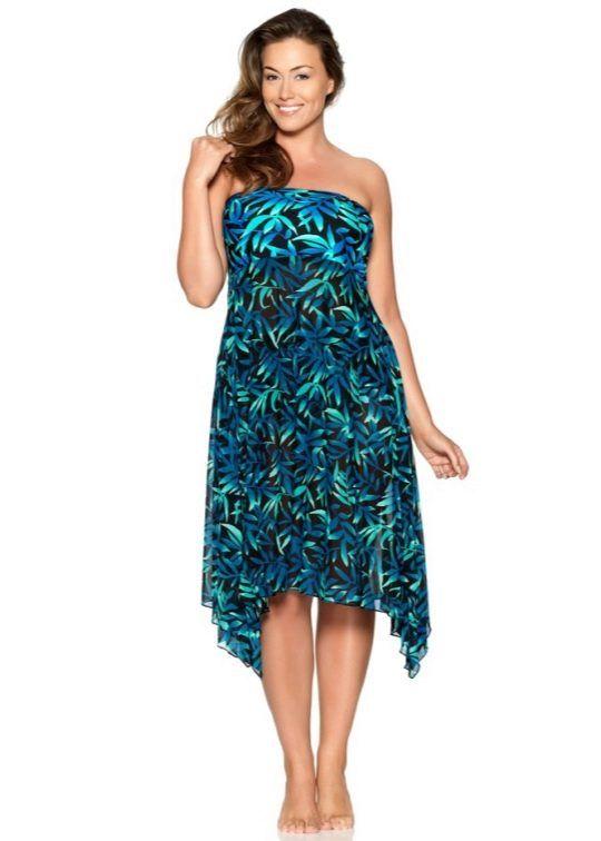 Красивое платье-купальник для полных женщин в 2020 г ...