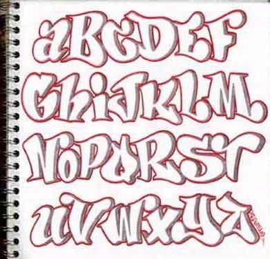 Alphabet Graffiti Letters By Keren B Parker  Church