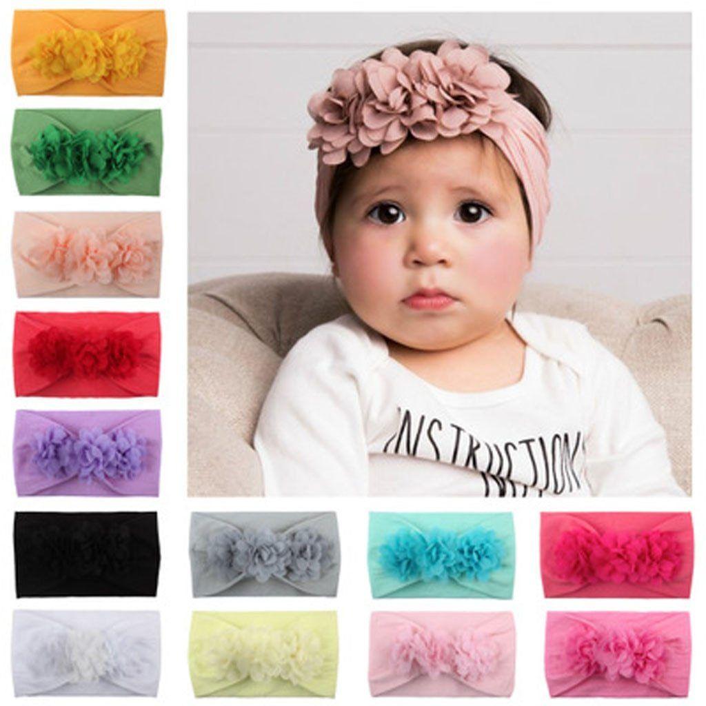 Toddler Infant Baby Girls Kids Flower Headband Hair Band Headwear Accessories
