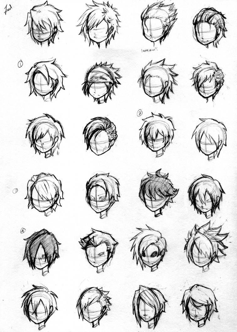 Character Hair Concepts By Noveliaproductions Concept Art Characters Boy Hair Drawing Sketches