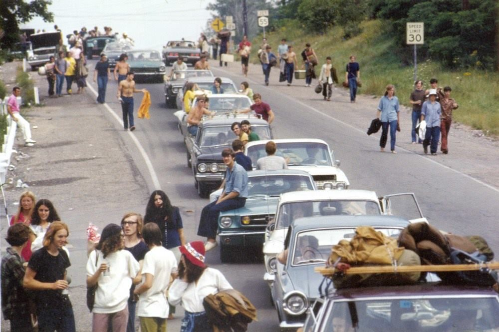 On the road to Woodstock, August 15, 1969