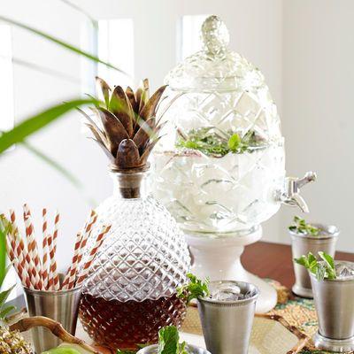 pineapple drink dispenser on stand fontaine boissons drink dispenser bonbonne en verre avec. Black Bedroom Furniture Sets. Home Design Ideas