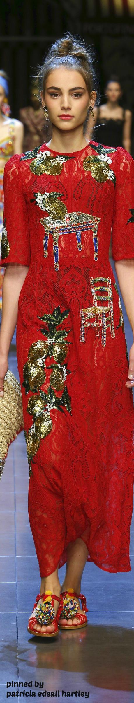 Dolce & Gabbana - SS 2016 http://www.dolcegabbana.com/